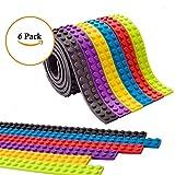 i-Sure cinta de bloque de construcción,Compatible con Juguetes de Construcción de Lego Y La cinta viene en rollos compatibles con todas las principales marcas de juguetes de construcción de bloques(6 rolls)