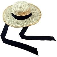 Lubier 1pcs Sombrero de Paja de Las Mujeres de Panamá Sombreros de Playa Plegables Tapa de los Deportes de Borde Ancho para Viajes de Vacaciones al Aire Libre