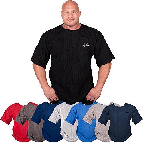 Gym-Shirt S8 - disponibile nei colori: blu, grigio chiaro, rosso, bianco, colore nero/body building maglietta, T-Shirt Fitness - E fitness-studio Blu blu scuro M