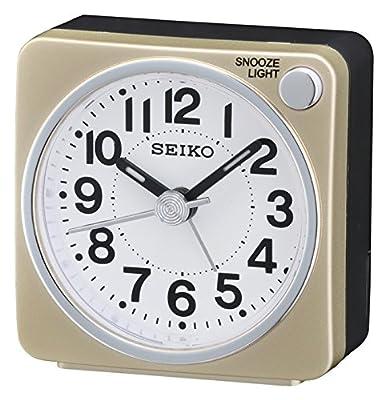 Seiko QHE118G - Reloj despertador con luz y movimiento continuo