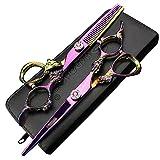 5.5Zoll sharongds Japanischer Friseur Schere Effilierschere Haar 16.5 cm Professional Barber Schere Set