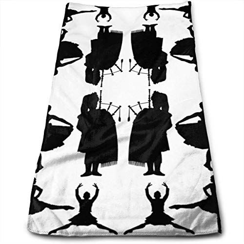 ERCGY Highland Dancers Microfiber Travel & Sports Towel, Ultra Compact, Lightweight, Absorbent Fast Drying Towels, Ideal Gym, Beach, Fitness, Exercise, Yoga