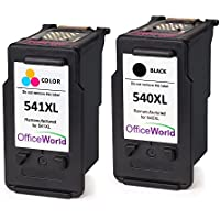 OfficeWorld Remanufactured Canon PG-540 CL-541 Cartouches d'encre PG-540XL CL-541XL pour Canon PIXMA MG4250 MG3550 MG3650 MX475 MG3150 MG3600 MG2250 MG3250 MG4150 MG2150 MG2200 MG3100