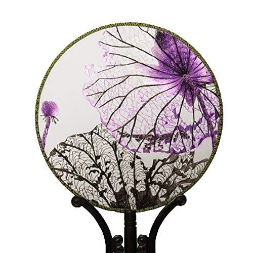 Stickerei Fertigprodukte Fan/Suzhou-Stickerei, handgefertigt, Stickerei, Seide, dekoratives Gemälde, chinesische traditionelle Kunst, canvas, W8, Einheitsgröße -