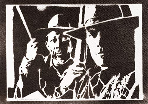 Póster Sin Perdón Clint Eastwood Y Morgan Freeman Grafiti Hecho A Mano - Handmade Street Art - Artwork