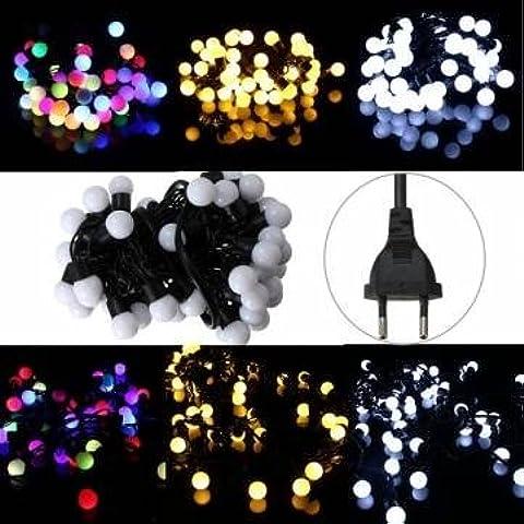 220v 5m 50 LED palla fata stringa della decorazione luce matrimonio festa di Natale