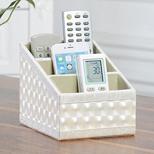 Starnearby Fernbedienung Halter PU Leder TV Stift Bleistift Remote Organizer für Wohnzimmer und Büro (Muster) (Remote-organizer)
