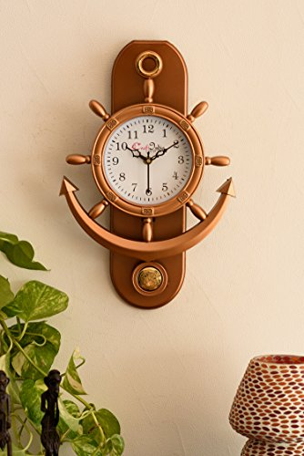 eCraftindia Decorative Pendulum Wall Clock,Copper