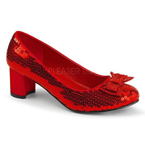 Von Sexy Zauberer Oz (Funtasma Der Zauberer von Oz-Schuhe Dorothy-01 rot Gr.)