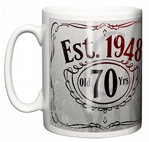 Image is Everything IIE, I'm a Classic Vintage, 70 Years Aged to Perfection, Est. 1948 Café en céramique d'anniversaire ou Tasse de thé