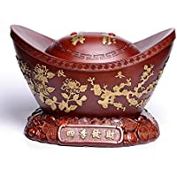 Elegante Vintage Resina Oro Lingote Talla Fina Diseño Artesanía Oficina Hogar Decoración Regalo Figura Escultura Arte