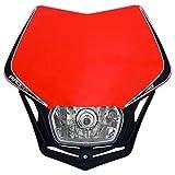 Scheinwerfer Motorrad Lampenmaske V-Face schwarz/rot E-geprüft universal 35/35W + Standlicht