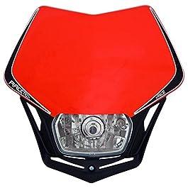 Piastra per fanale Enduro Racetech V-Face, colore: Rosso