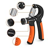 #1: Strauss Adjustable Hand Grip Strengthener, (Black/Orange)