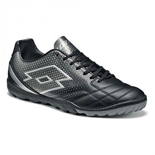 lotto-spider-700-xiii-tf-botas-de-futbol-para-hombre-negro-gris-blk-tit-gry-42-1-2-eu