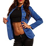 Damen Blazer in Uniform Stil Militäry, Farbe:Royalblau;Größe:42/XL