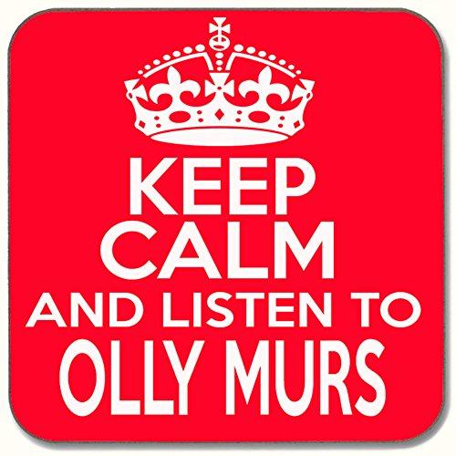 "\""Keep Calm & Listen To Olly Murs Getränke Untersetzer"