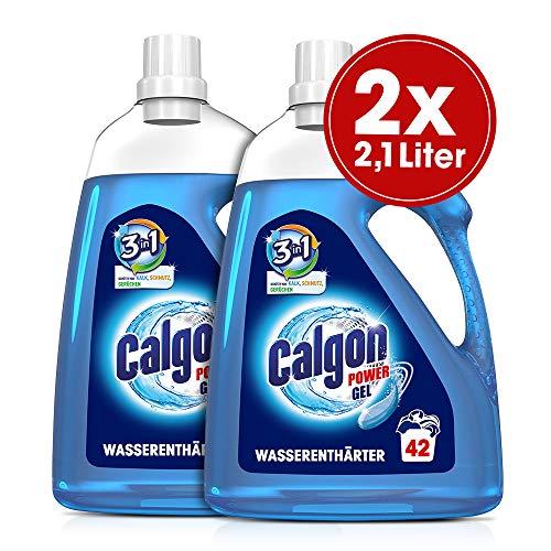 Calgon 3in1 Power Gel (Wirksam gegen Kalk, Schmutz und Gerüche - Schützender Wasserenthärter für die Waschmaschine) 2 x 2,1 l