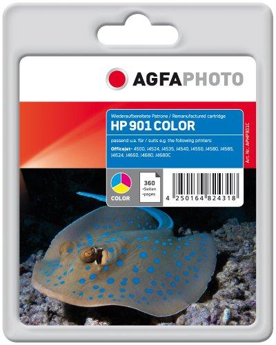 AgfaPhoto APHP901C Tinte für HP OJ J4580, 19 ml, farbig