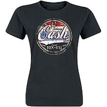 Johnny Cash Original Rock n Roll Girl-Shirt schwarz