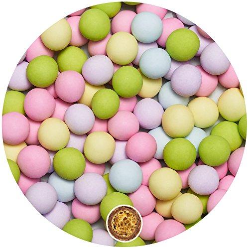 py Schokokugeln Small BUNT Candybar Kugeln Candy Bar Gastgeschenk Taufe Babyparty Kindergeburtstag dragees Süssigkeiten Taufmandeln Party Hochzeit Deko rosa blau gelb grün ()