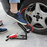 #8: Dealcrox New Car-Styling Inflating Pump Foot Pedal Type High Pressure Air Pump Mini Portable Inflator Machine for Car Motorcycle Bike Toy
