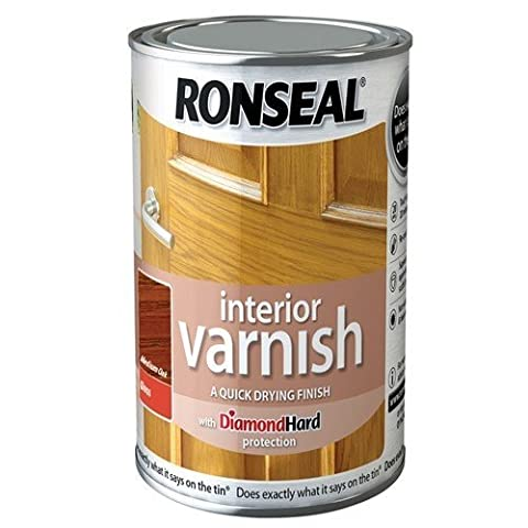 Ronseal RSLINGMO250 250ml Quick Dry Gloss Interior Varnish - Medium Oak by Ronseal
