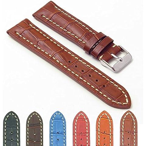 DASSARI Concord–Marrón, Piel de cocodrilo banda de reloj para Breitling 20/1820mm
