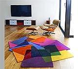Q Personalità A forma di tappeto colorato Soggiorno Tavolino Divano Camera da letto Camera da letto per bambini Stanza Studio Area Tappeto ( dimensioni : 140*200cm )