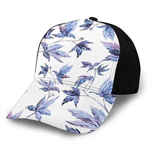 Hip Hop Sun Hat Baseball Cap,Abstract Grunge Watercolored Hand Drawn Image Shadow Tree Leaves,for Men&Women -