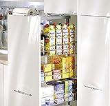 Aufbewahrungskörbe, 300mm breit, für Apothekerschrank/Vorratsschrank, mit sanftem automatischem Schließmechanismus, chrom, P22,Körbe
