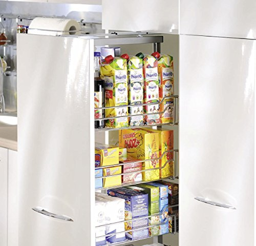 300mm Pull out larder chrome P22 baskets soft / self close by 300mm Pull out larder chrome P22 baskets soft / self close