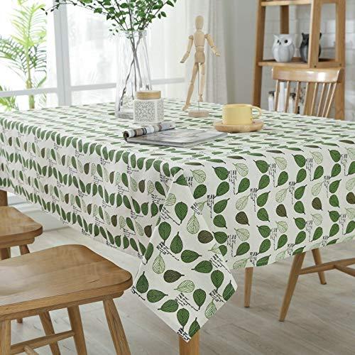 Heimtextilien Zweifarbige Tischdecken-Tischdeckenrestaurant-Ausgangshotel-Konferenztischdecke des modernen unbedeutenden Fanblattes Wohnaccessoires ( Color : Green , Size : 90*90 )