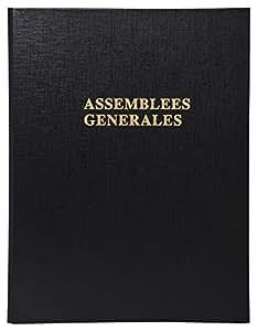 Exacompta 530E Reliure à 4 Anneaux Délibérations Assemblée Générale Livré avec Recharge 5419E