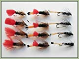 12 Wet Fishing Flies - Zulu, Ke-he, Red tag & Black Pennell (10)