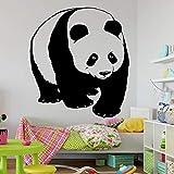 SLQUIET Adesivi murali Animali Panda Pattern Art murale Adesivi murali in Vinile Bambini Cute Animal Home Decoration Camera da Letto caffè 43x47cm
