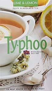 Typhoo Lime and Lemon Flavoured Tea, 25 Tea Bags