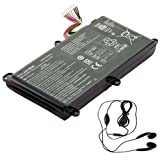 amsahr AS15B3N-03 Ersatzakku Acer AS15B3N, Predator 15 G9-591-731D, 17 G9-792 (14.8V, 88.8Wh, 6000mAh) - Inklusive Stereo-Ohrhörer schwarz