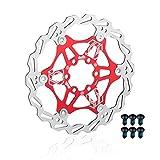 EASTERN POWER Disco Freno, 160 mm Freno a Disco, Flottante Disco Freno Rotore per Shimano/Sram/Avid/Hayes/Magura Mountain Bike MTB Bicicletta BMX Bici, Rosso (Include 6 Viti)