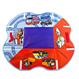 deAO Childrens Road Map Playmat Rug & Toy Storage Box 2in1 (Convertible Set)