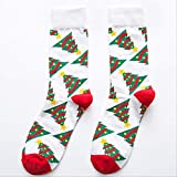 DYGZS Winter socks Socks For Women Cartoon Funny Cartoon Cute Winter Woman And Socks Cotton Square Foot Personality Socks EUR 36-41 white