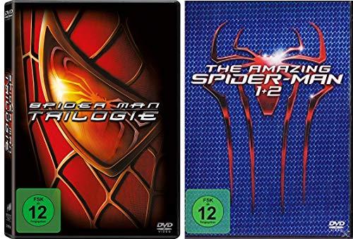 Spider-Man Trilogie (Film 1-3) + The Amazing Spider-Man Box (Teil 1+2) im Set - Deutsche Originalware [5 DVDs]