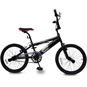 511wYhx5rOL. SS300  - Jago BMX - 20 Inch Wheels, Black Frame, V-brakes, 360° Rotation with 4 Stunt Pegs - Bicycle, Bike, Kids