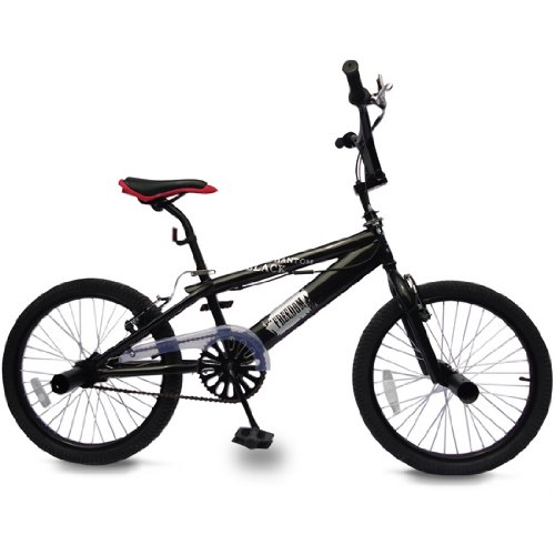 "BMX Fahrrad ""BlackPhantom"" 20 Zoll Rad / Bike, 360°-Rotationslenker, 4 Pegs, Freestyle-Gabel"