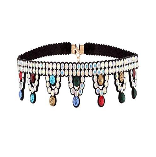 Caiyan Crown Diamond Tassel neck chain -
