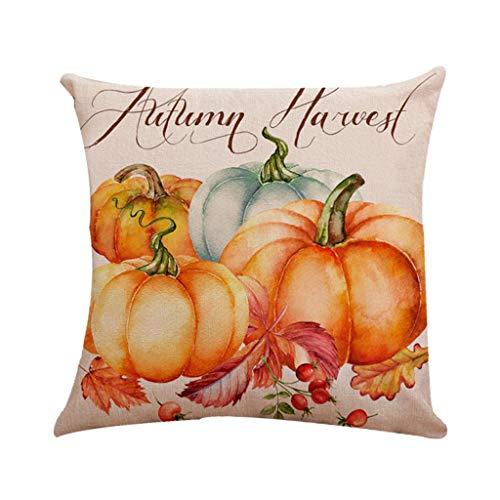 en Kissenbezug, Spirit of Halloween Thriller Throw Kissenbezüge 100% Baumwolle Leinen Reißverschluss, Kissen Couch Kissenbezüge,F,18