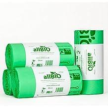 allBIO - Lote de 100 bolsas de basura de 40 litros (100% biodegradables)