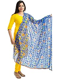 Lodestone Women's Bandhani Net Dupatta With Lace Work