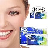 Bleaching Strips Bleaching Zahnweiß Streifen Zahnaufhellungs für Weißere Zähne 28pcs Zahn Bleaching Strips Teeth Whitening Zahn Zähne weißer