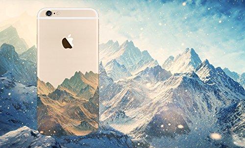 MPPK-Hamburg ® Apple iPhone ® 6 / 6s 4,7 Zoll Schutz Hülle - Case in wunderschönem Design – Stabiles / transparentes PC - Verschneites Gebirge Gebirge